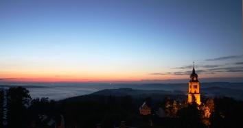 Blick vom Schloss Augustusburg