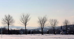Winterlandschaft in Gahlenz