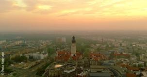 Skyline Leipzig - Blick auf das Neue Rathaus