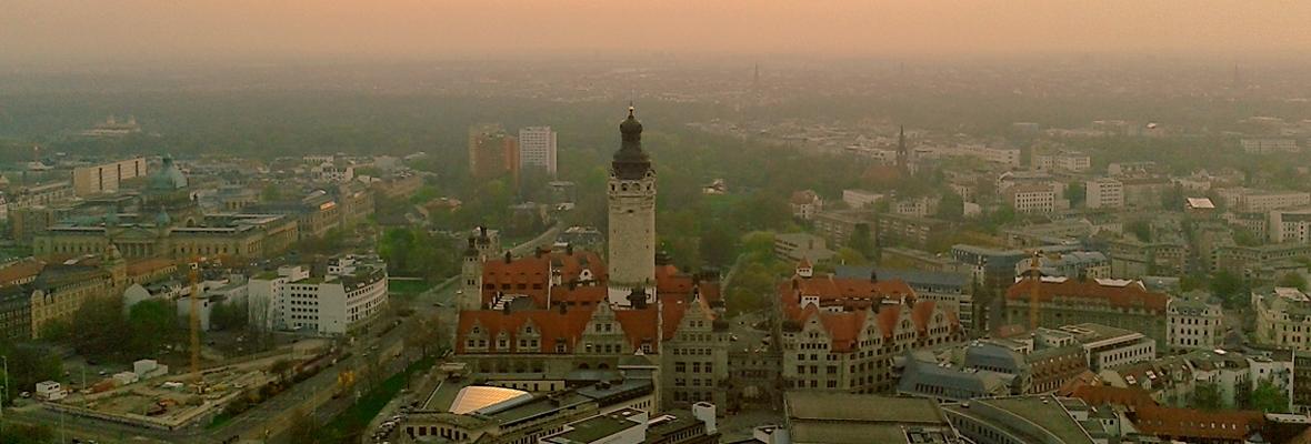 Skyline Leipzig - Neues Rathaus